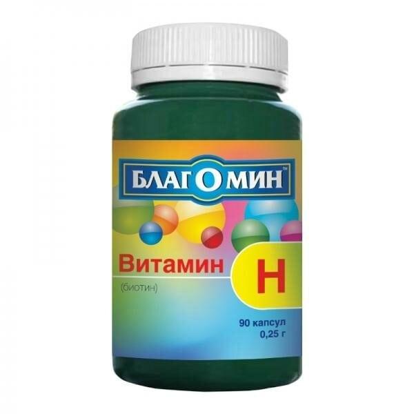 Купить Биотин Благомин Витамин H 150 мкг, 90 капсул фото