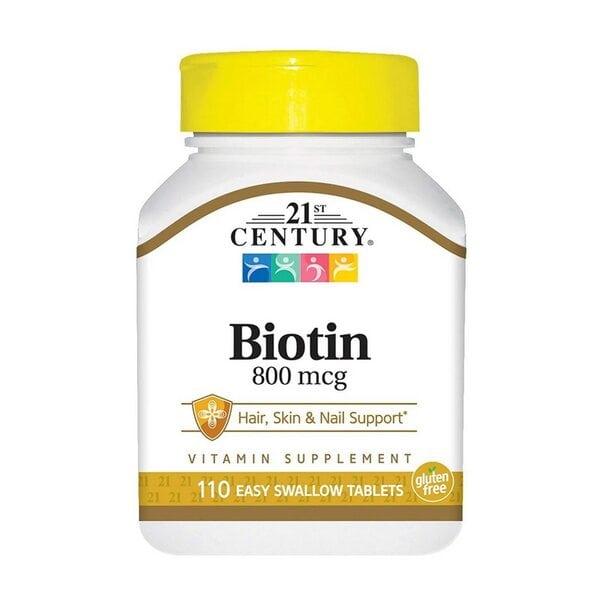 Купить 21st Century Биотин, 800 мкг, 110 таблеток фото