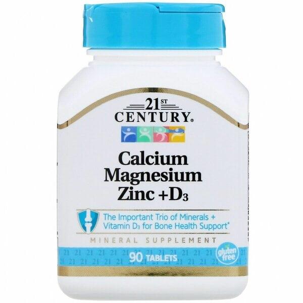 Купить 21st Century Кальций, магний, цинк + D3, 90 таблеток фото