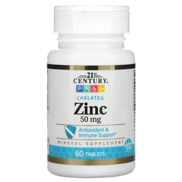 Купить 21st Century цинк 50 мг, 60 таблеток фото