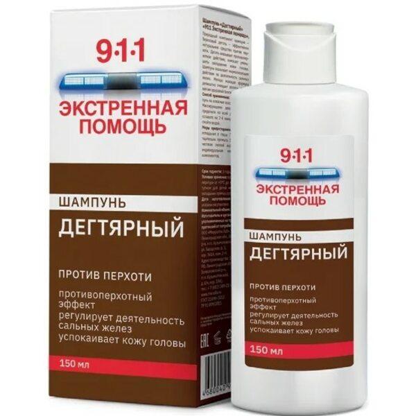 Шампунь Дегтярный Экстренная помощь «911» от перхоти, 150 мл