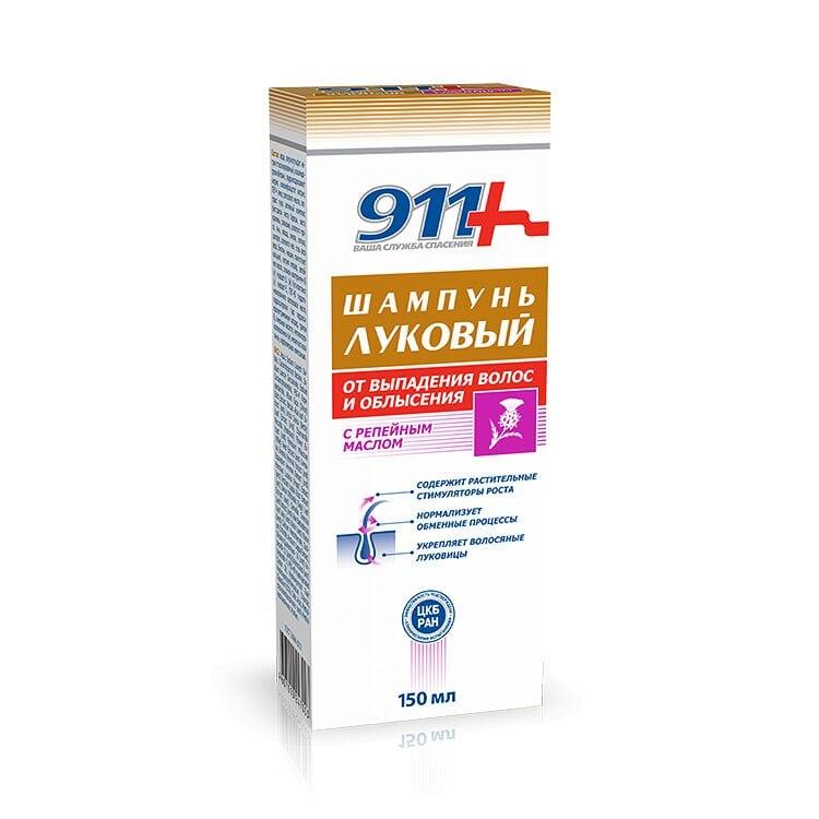 Шампунь 911 Луковый с репейным маслом