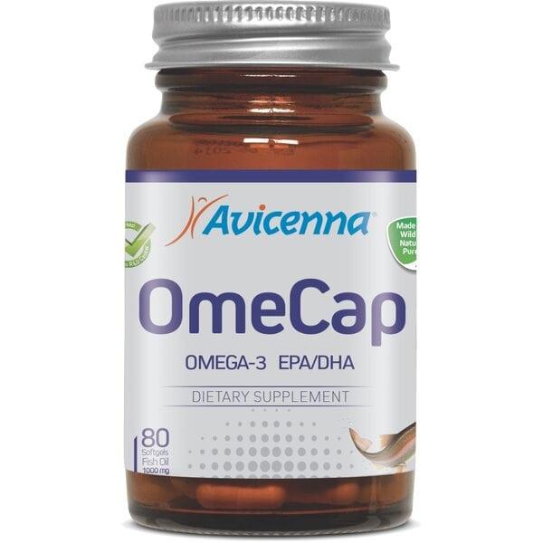 Купить Омега-3 Рыбий жир с витамином E, Авиценна OmeCap, 80 капсул фото