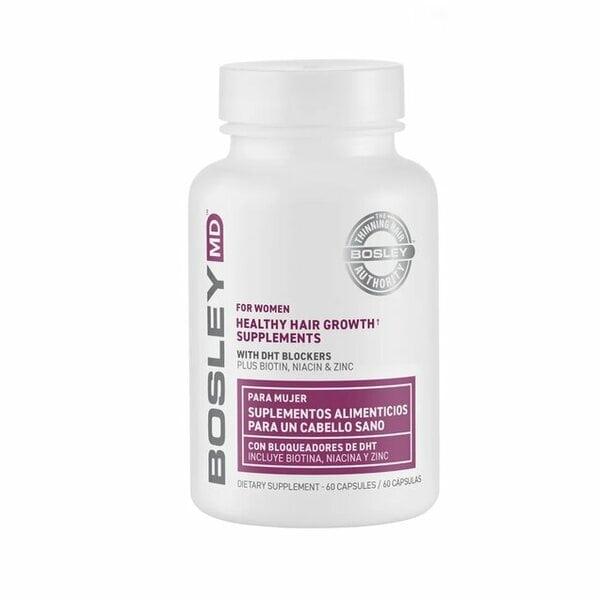 Купить Комплекс витаминно-минеральный для оздоровления и роста волос - для Женщин Bosley, 60 капсул фото