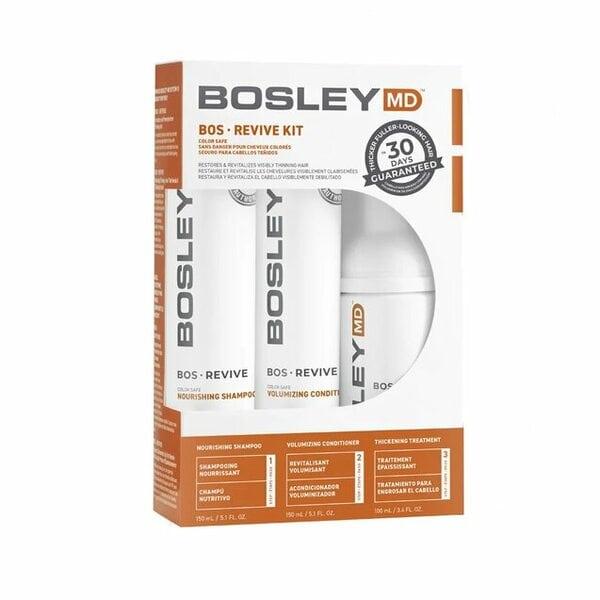 Система от выпадения и для стимуляции роста волос (для окрашенных волос) Bosley (шампунь, кондиционер, уход)