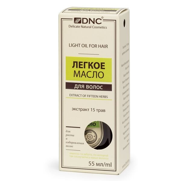 Купить Легкое масло Экстракт 15 трав для роста и оздоровления волос DNC, 55 мл фото