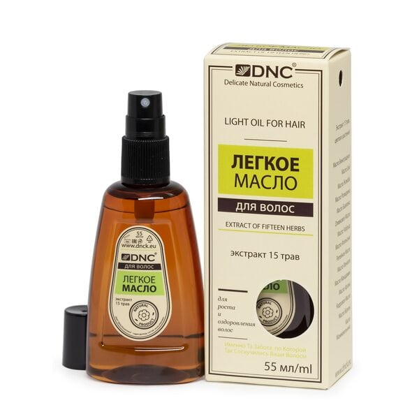 Купить Легкое масло Экстракт 15 трав для роста и оздоровления волос DNC, 55 мл фото 1