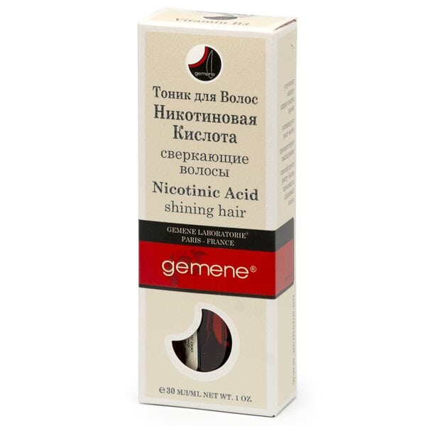 Тоник с никотиновой кислотой для волос Gemene, 30 мл