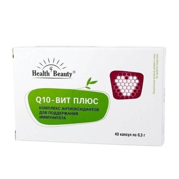 """Q10 Вит Плюс – профилактика сердечно-сосудистых и онкологических заболеваний, """"Health & Beauty"""", 40 капсул"""