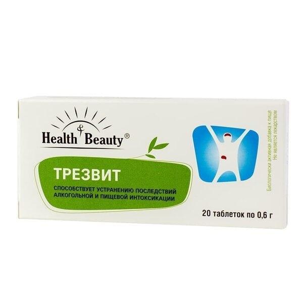 """Купить Трез Вит – выведение токсинов, снятие похмельного синдрома, """"Health & Beauty"""", 20 таблеток фото"""