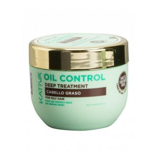 """Купить Маска интенсивный уход для жирных волос """"Контроль"""", Oil Control, Kativa, 250 мл фото"""