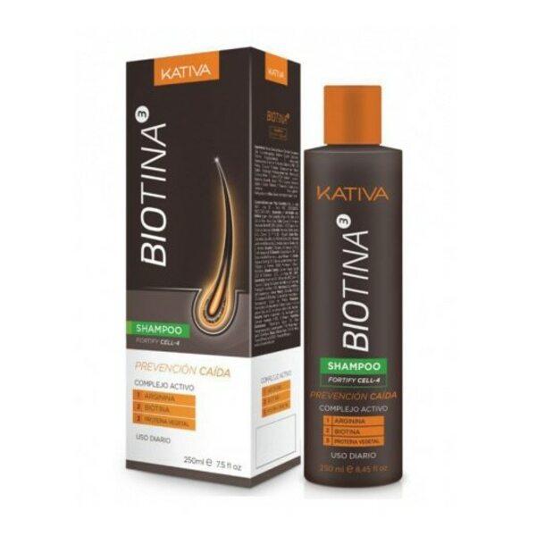 Купить Шампунь против выпадения волос с биотином Biotina, Kativa, 250 мл фото