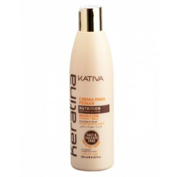 Укрепляющий крем для укладки с кератином для всех типов волос Keratina, Kativa, 250 мл