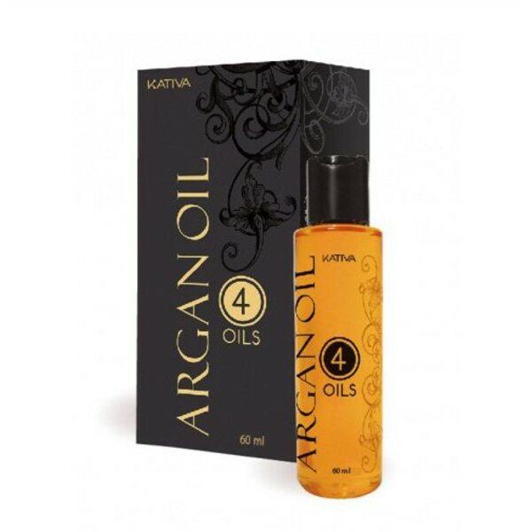 """Купить Восстанавливающий защитный концентрат для волос """"4 масла"""" ARGAN OIL, Kativa, 60 мл фото"""