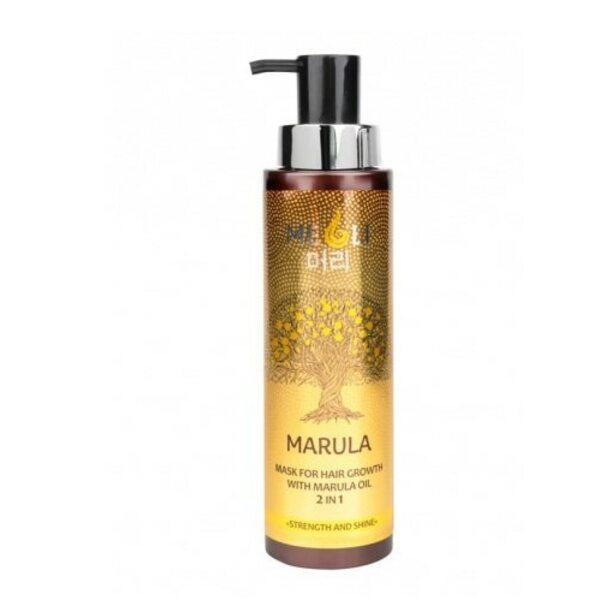 """Купить Маска для роста волос с маслом Марулы 2 в 1 """"Сила и блеск"""", Meoli, 400 мл фото"""