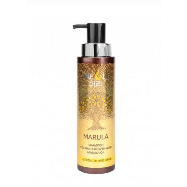 """Купить Шампунь для роста волос с маслом Марулы """"Сила и блеск"""", Meoli, 400 мл фото"""