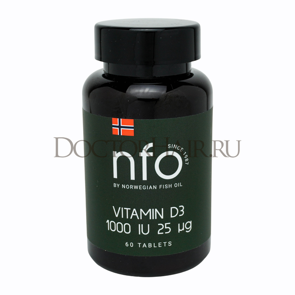 NFO Витамин D3 1000 ME, 60 таблеток