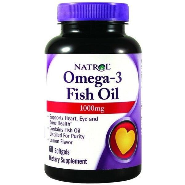 Natrol Omega-3 Fish Oil 1000 мг 60 капсул