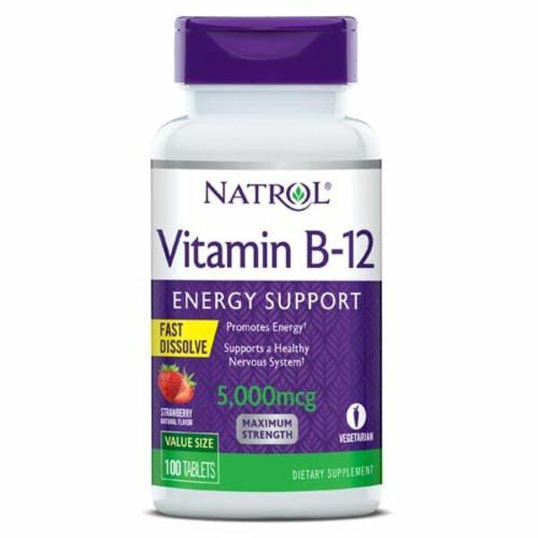 Купить Natrol Витамин B-12 5000 мг 100 таблеток фото