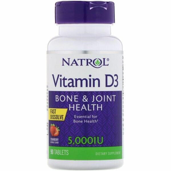 Natrol Vitamin D3 5000 IU F/D 90 таблеток