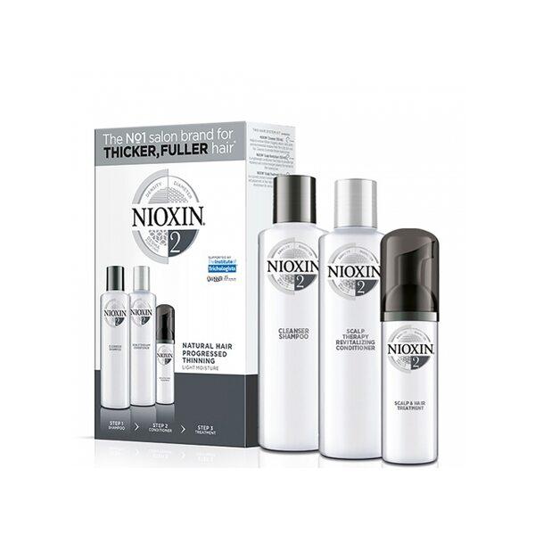 Набор Система 2 Nioxin для натуральных истонченных волос (шампунь, кондиционер, маска)