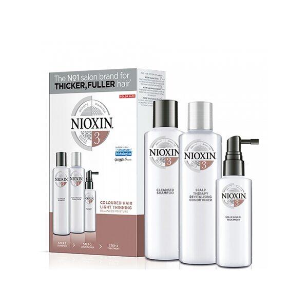 Купить Набор Система 3 Nioxin для окрашенных волос с тенденцией к истончению (шампунь, кондиционер, маска) фото