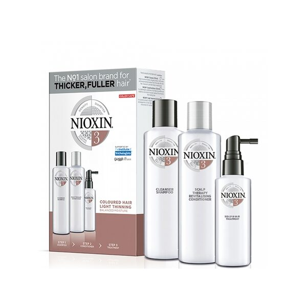 Купить Набор Система 3 Nioxin XXL для окрашенных волос с тенденцией к истончению (шампунь, кондиционер, маска) фото