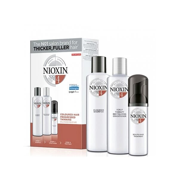 Набор Система 4 Nioxin для окрашенных истонченных волос (шампунь, кондиционер, маска)