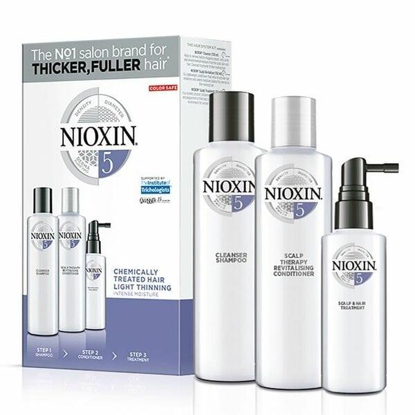 Купить Набор Система 5 Nioxin XXL для химически обработанных волос с тенденцией к истончению (шампунь, кондиционер, маска) фото