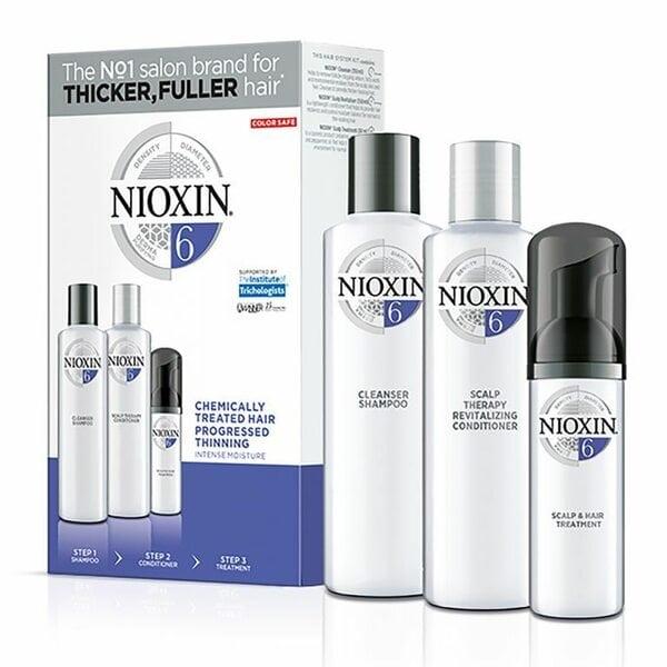 Купить Набор Система 6 Nioxin для химически обработанных истонченных волос (шампунь, кондиционер, маска) фото