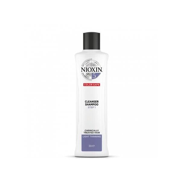 Купить Очищающий шампунь 5 Nioxin для химически обработанных волос с тенденцией к истончению, 300 мл фото