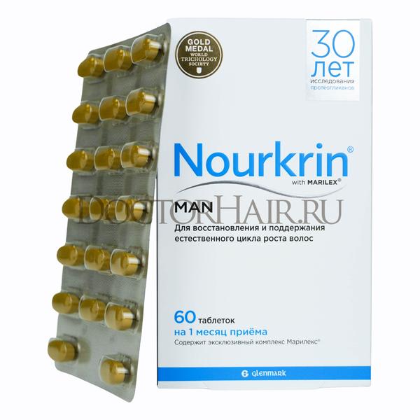 Купить Нуркрин для мужчин, Витамины для восстановления волос, 60 таб фото