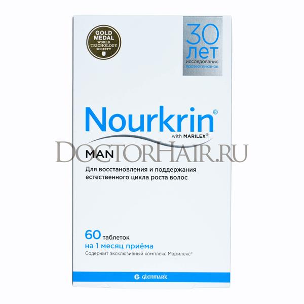 Купить Нуркрин для мужчин, Витамины для восстановления волос, 60 таб фото 1