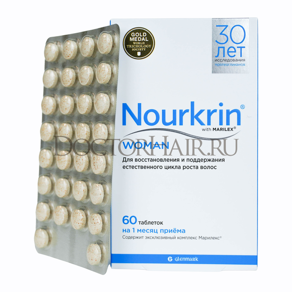 Купить Нуркрин для женщин, Витамины для восстановления волос, 60 таб фото