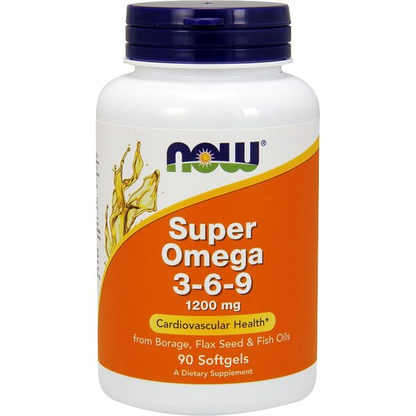 Купить Now Foods Super Omega 3-6-9 1200 mg, 90 капсул фото