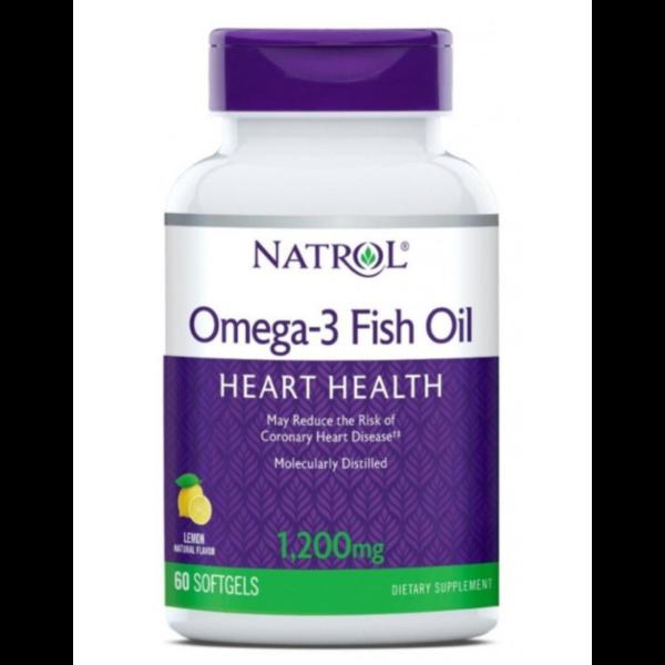 Купить Natrol Омега-3 рыбий жир 1200 мг капсулы, 60 шт фото