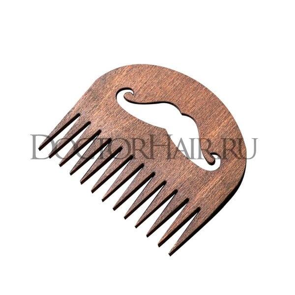 """Купить Расческа деревянная для бороды и усов """"Усы"""", тип 2 фото"""