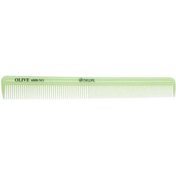 Расческа  комбинированная, узкая, зеленая 21,5 см