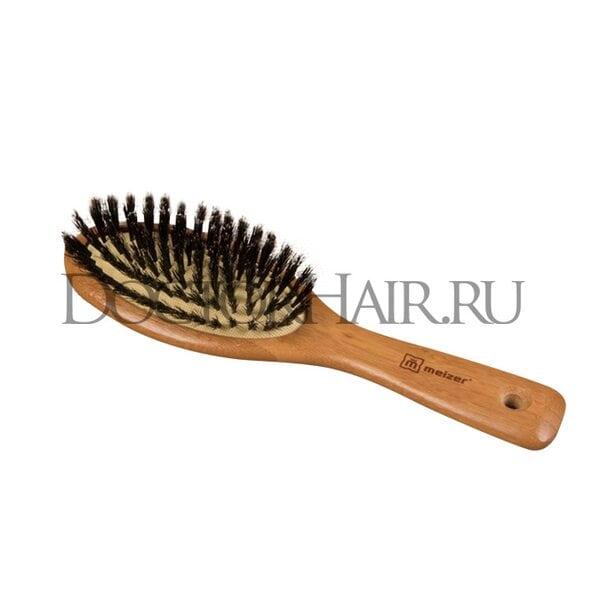 Расчёска массажная «Бамбук», комбинированная щетина, цвет «светлое дерево»