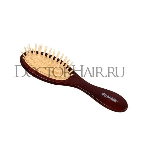 Расчёска массажная, цвет «тёмное дерево»