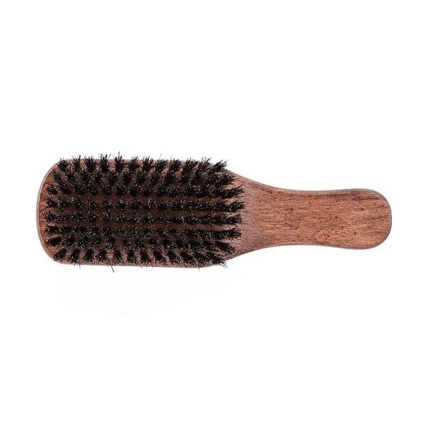 Купить Щетка для укладки бороды, с ручкой, натуральная щетина, 8-рядная фото 3