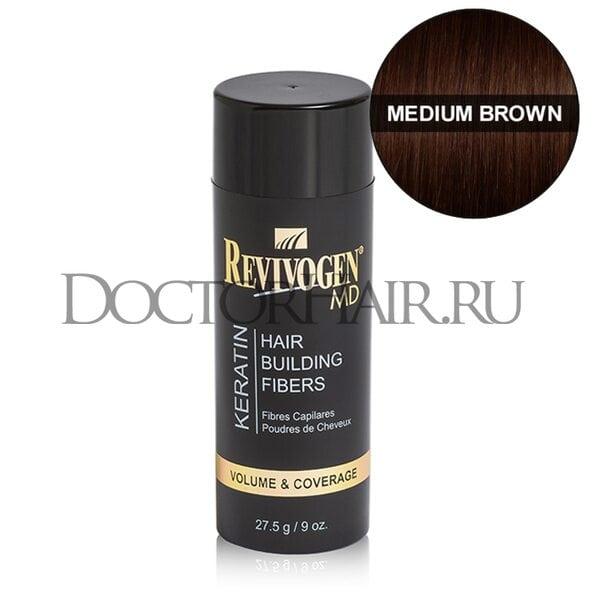 Купить Кератиновый загуститель волос Revivogen MD (средне-коричневый) фото