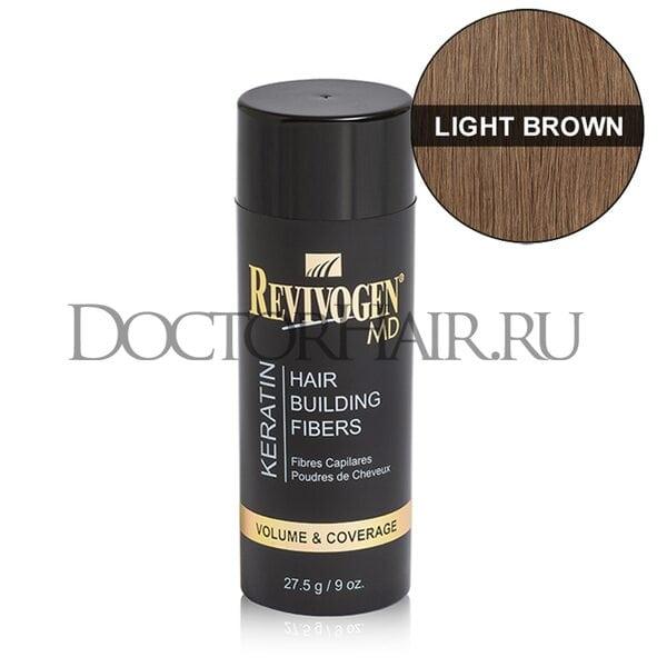 Купить Кератиновый загуститель волос Revivogen MD (светло-коричневый) фото