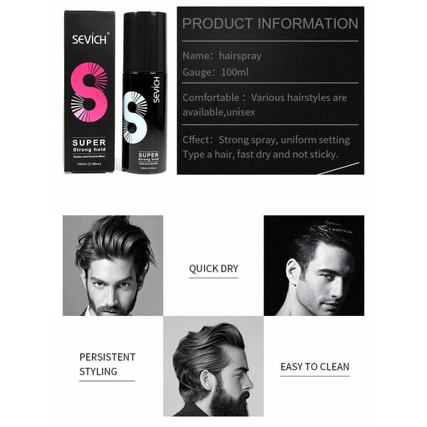 Купить Спрей для фиксации волос Sevich, 100 мл фото 3