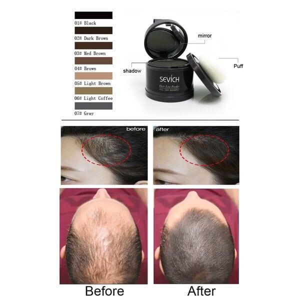 Купить Пудра маскирующая для волос и бровей Sevich (черный), 4 гр фото 1
