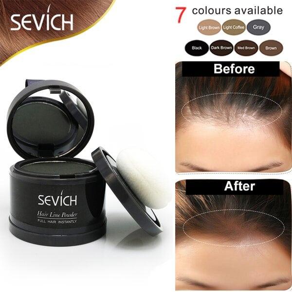 Купить Пудра маскирующая для волос и бровей Sevich (черный), 4 гр фото 3