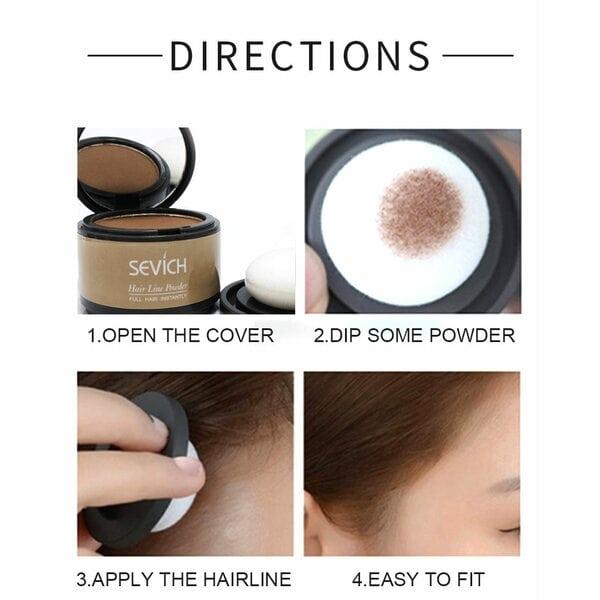 Купить Пудра маскирующая для волос и бровей Sevich (черный), 4 гр фото 4