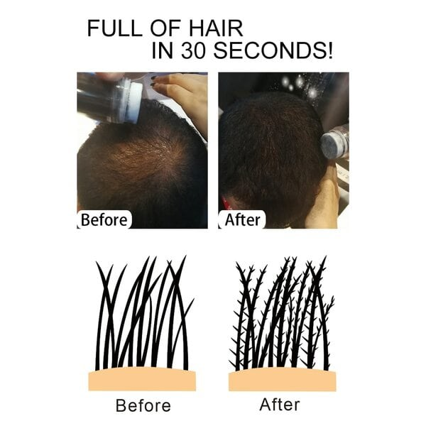 Купить Загуститель для волос Sevich (черный), 12 гр фото 4