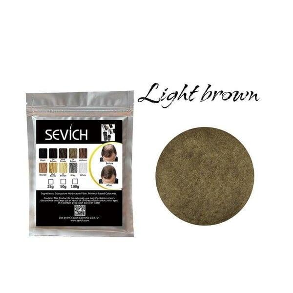 Загуститель для волос светло-коричневый, light brown Sevich, 25 гр (рефил)