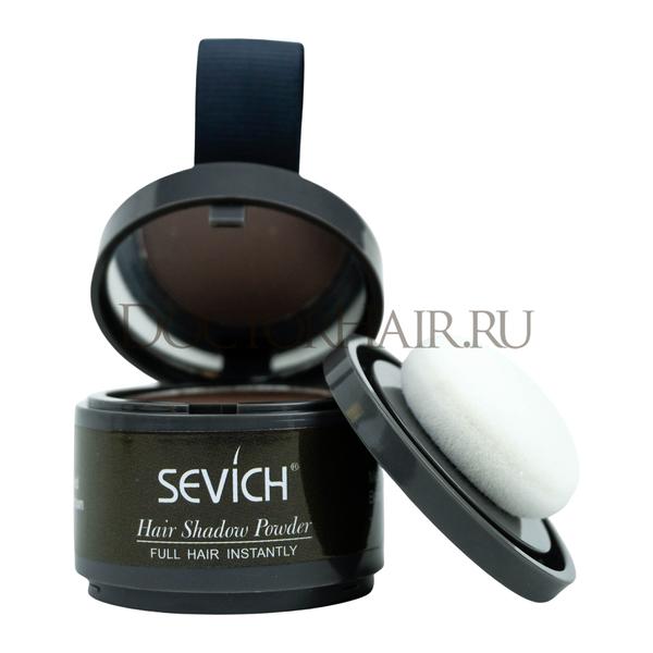 Купить Пудра маскирующая для волос и бровей Sevich (средне-коричневый), 4 гр фото
